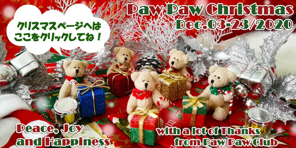 PawPawクリスマスはこちらから!