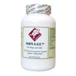 よく吐く子や食欲のない子、お腹を壊しやすい子に優しい天然成分の消化酵素 Paw's A.G.E. (60 カプセル)